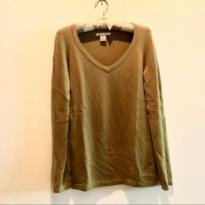 Chartreuse green Cabi sweater